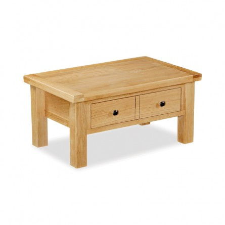 ... York Oak Coffee Table With Drawer. A Beautiful Range Of Classic Oak  Furniture. Generous Proportions An Extra Thick Tops Finished In