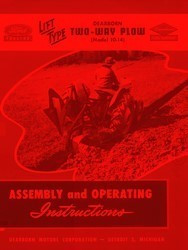 Ford Model 10-14 Lift Type Dearborn Two-Way Plow Operators Assembly Manual