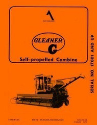 Allis Chalmers G Self Propelled Gleaner Combine Operators Manual Ser. 17001 up
