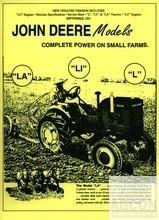 John Deere Model L LA LI LU Y 62 Shop Service Manual JD