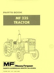 Massey Ferguson MF 235 Tractor Parts Book Manual  MF235
