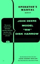 John Deere RW Disk Harrow Operators Manual JD