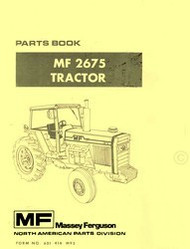 Massey Ferguson MF 2675 MF2675 Tractor Parts Book Manual
