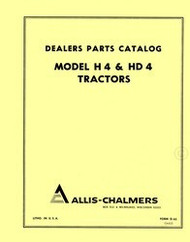 Allis Chalmers H-4 H4 HD-4 HD4 Crawler Tractor Parts Catalog Manual AC