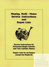 Maytag Multi Motor Hit Miss Engine Service Manual 72 82 92 B 31 33 G FW-1718