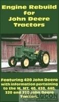 John Deere 420 M MT 40 430 440 320 330 Tractor Engine Rebuild DVD JD
