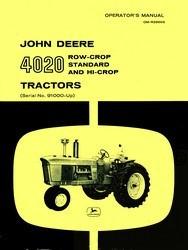 John Deere 4020 Row Crop Standard Hi Operators Manual