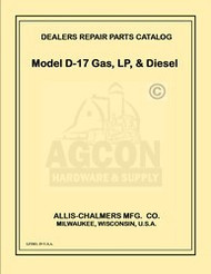 ALLIS CHALMERS D17 DIESEL GAS LP  TRACTOR PARTS MANUAL