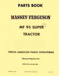 MASSEY FERGUSON MF Super 95 Tractor Parts List Manual