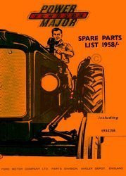 Fordson Power Major Parts List Manual 1952 - 1958 Ford