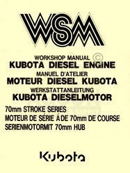 Kubota 70mm VH1100 V1200 Z500 B Engine Service Manual