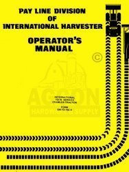 INTERNATIONAL TD 15 C TD15 Crawler Operators Manual IH