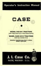 Case 640 641 640C 641C Tractor Operators Manual Gen Uti
