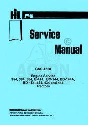 INTERNATIONAL 2444 3414 3444 7000 Engine Service Manual