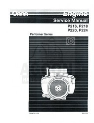 ONAN P220 P224 Performer Series Engine Service Manual