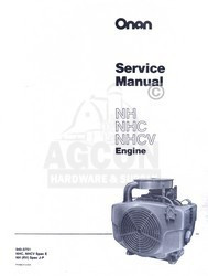 ONAN NH NHC NHCV E J-P  Engine Service Manual 940-0751