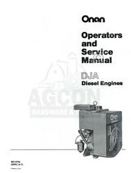 ONAN DJA A-T Diesel Engine Service Shop Manual 967-0755