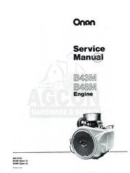 ONAN B43M B48M Engine Service Shop Manual 965-0754