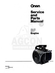 ONAN BF Engine Service Shop & Parts Manual 965-0250 16h