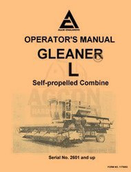ALLIS CHALMERS Model L Gleaner Combine Operators Manual