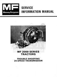 Massey Ferguson MF 2000 Transmission 24 Service Manual