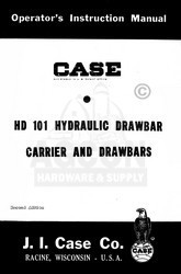 Case HD 101 Hydraulic Drawbar Carrier Operators Manual