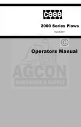 Case 2000 2144 2146 2154 2156 2244 2246 2254 2256 2266 Plow Operators Manual