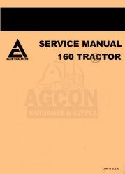 ALLIS CHALMERS 160 ONE SIXTY TRACTOR SERVICE MANUAL