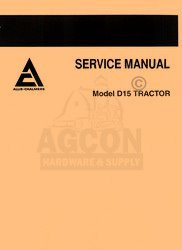 ALLIS CHALMERS D-15 D15 GAS DIESEL SERVICE  MANUAL 15