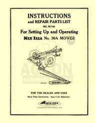 New Idea 30A 30 A Sickle Mower Operators Parts Manual