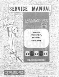 International 510 515 Pay Loader Chassis Service Manual