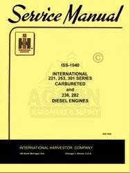 International 221 263 264 301 Gas Engine Service Manual