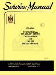 International 221 263 264 301 Gas Engine Service Manual