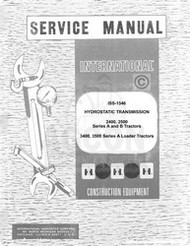 International 2400 2500 A B Transmission Service Manual