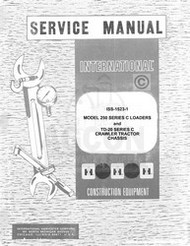 International 250 C Loader TD-20 Crawler Service Manual