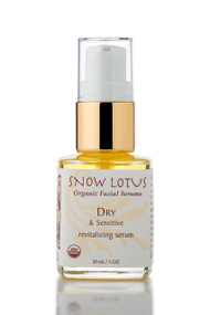 Dry & Sensitive Skin Revitalizing Organic Facial Serum, 1oz