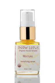 Mature Skin Revitalizing Organic Facial Serum, 1oz