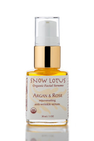 Argan & Rose Rejuvenating Antiwrinkle Organic Facial Serum, 1oz