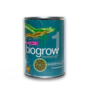 Biogrow Formula 1  alimento para camarón sustituto de microalgas para uso principalmente en los estadios zoea
