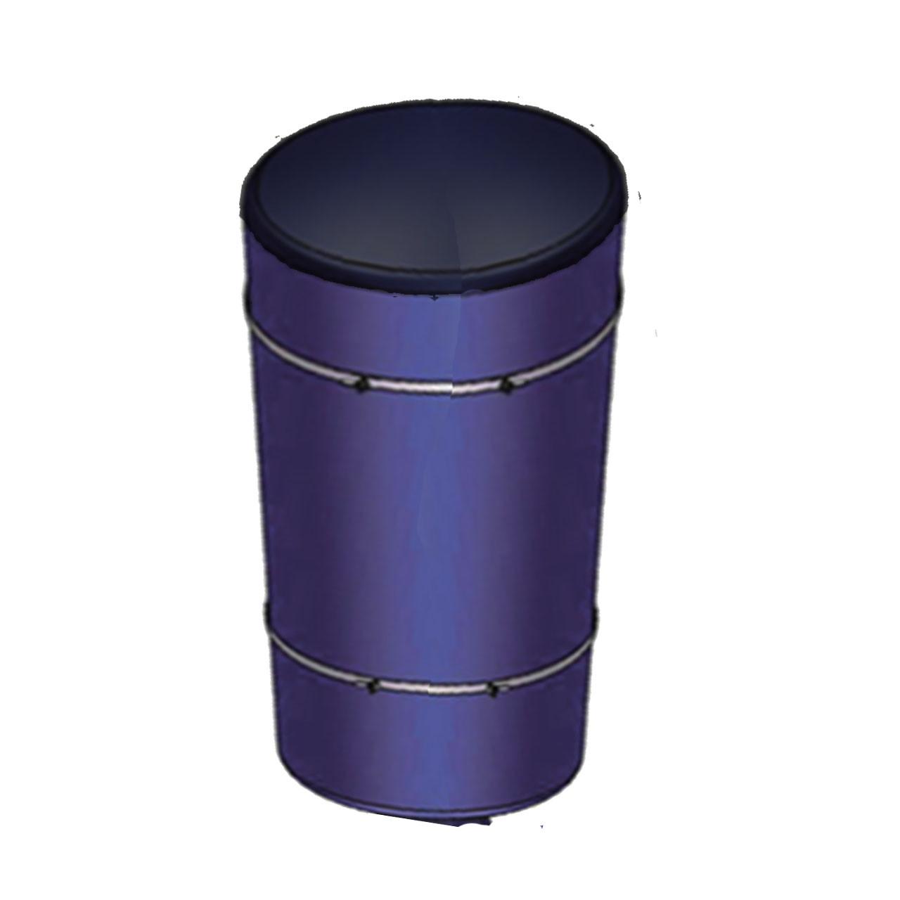 Tambor de 200 litros para alimentador solar automatico ProAqua de 150 kilos