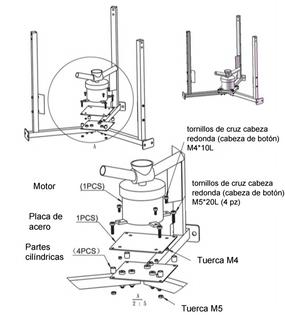 motor de expulsion es una refacción para los alimentadores solares automáticos y programables de ProAqua para la acuicultura