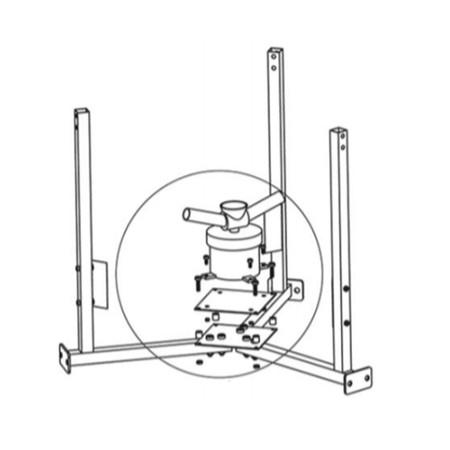 Motor de expulsión es una refacción para los alimentadores solares automáticos y programables de ProAqua para la acuicultura