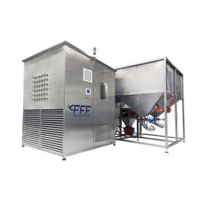 Alimentador central para granjas acuicolas