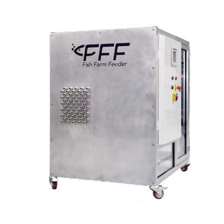 Alimentador para criaderos e instalaciones acuicolas