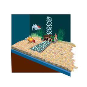 Increíble decoración rio bajo el agua Lifegard Acuatics