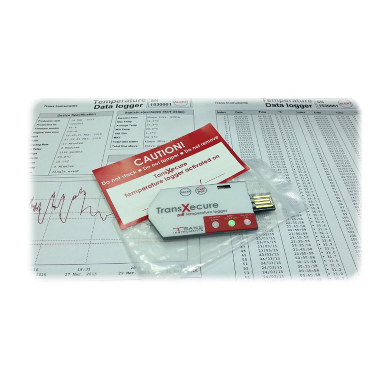Logger registrador de temperatura TransXecure Trans Instruments