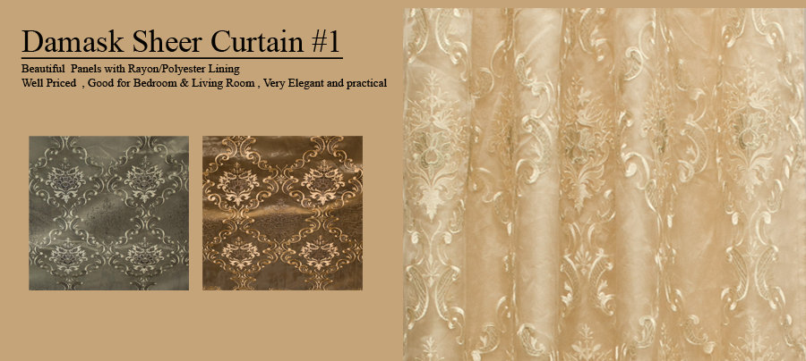 Image Result For Sheer Damask Curtains