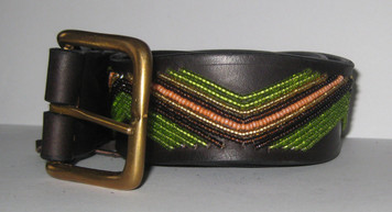 African Beaded Zig Zag Belt
