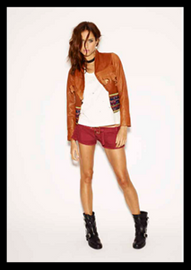 One Teaspoon Morrison Tan Leather Jacket