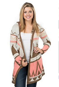 Derek Heart Hooded Cardigan